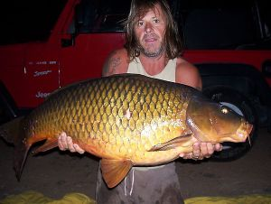Dave with Canary Islands record common 55lb 2oz