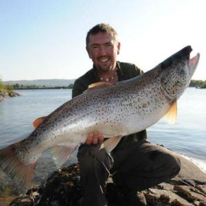 The Corrib record 23lb 12oz