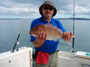 Alan with a lovely snapper taken on a lure