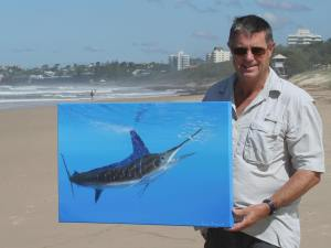 Roger and striped marlin portrait