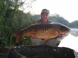 Dave with an amazing looking linear from a big pit