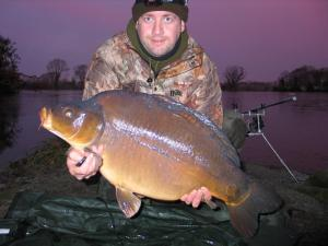Lake frozen solid and a lump from under the ice, maggots doing the biz!