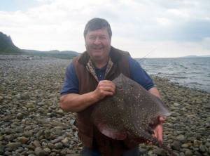 Paul with a nice thornback ray