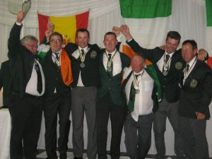 Irish team gold medal winners