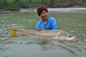 A client with a mahseer