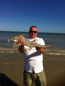John  with a Saint Joseph or elephant fish in South Africa