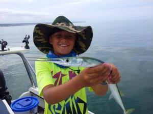 David with a garfish