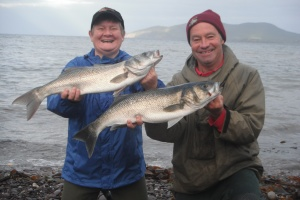 Kevin and his wife Christine. They had seven bass to 7lb on this session