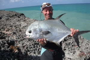 A 20lb permit from the shore, it took off like a ferrari, 150m of line in about five seconds