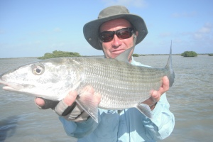 Kevin with a 12lb bonefish