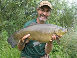 PB tench 9lb 10oz part of a brace of 9lbers