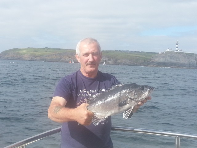 Stone basse with the Old head of Kinsale in the background