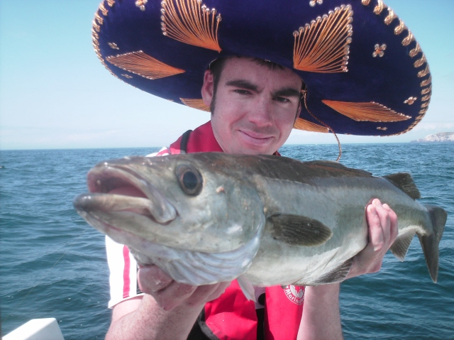 Sombrero...light tackle... pollock what more could a man want?