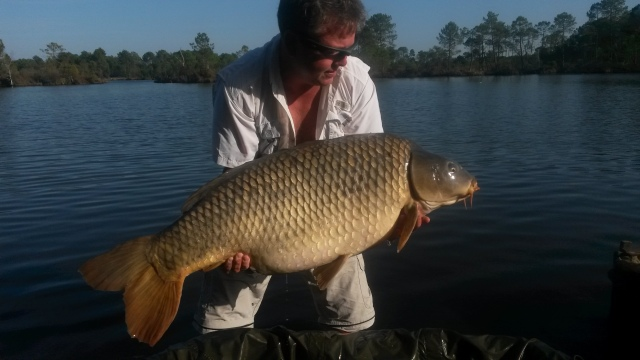 Kevin with his 58 common