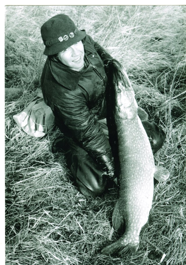 A young Neville with his 41lb 6oz PB