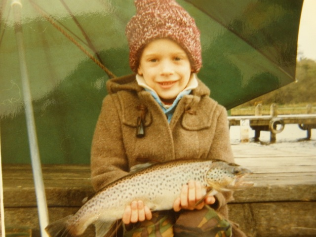 """Get the kids out young, make them anglers and they will have a happy life ahead"""