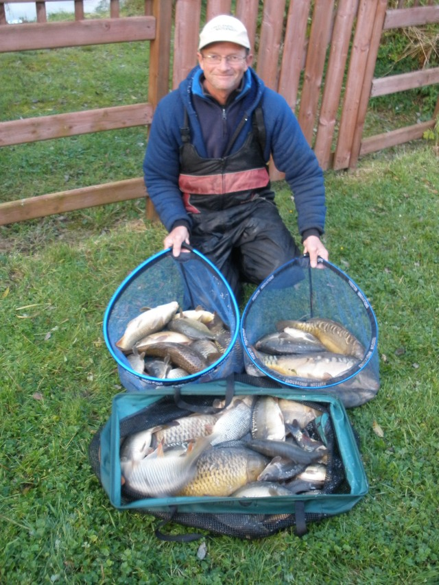 my 148lb 12oz catch that still holds the Tooman fishery 5 hour match record