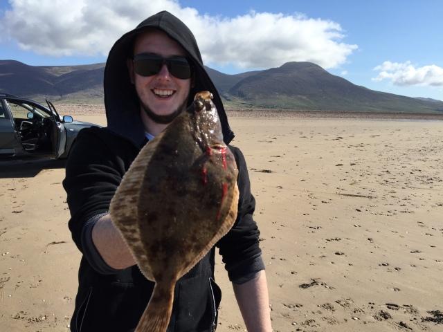 Paul with a nice flounder