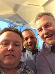 Former world carp record holder Kevin Ellis, Myself and Vinnie on the beer in Dublin