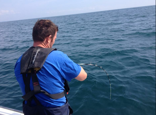 Shane bent into a good fish